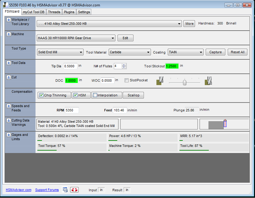 Download CNC Speed And Feed Machinist Calculator - HSMAdvisor